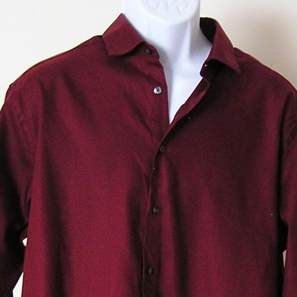 dcd0a814 Calvin Klein Shirts | Burgundy Shirt Slim Fit | Poshmark